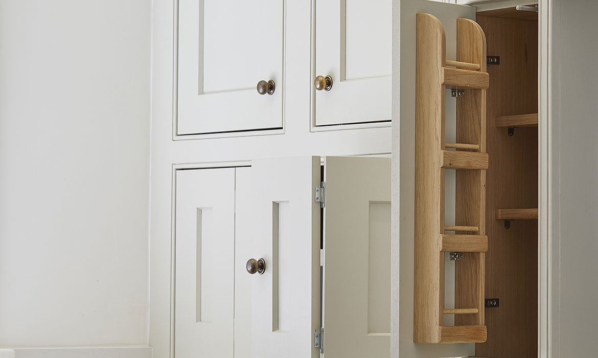 Bespoke kitchen storage cabinets